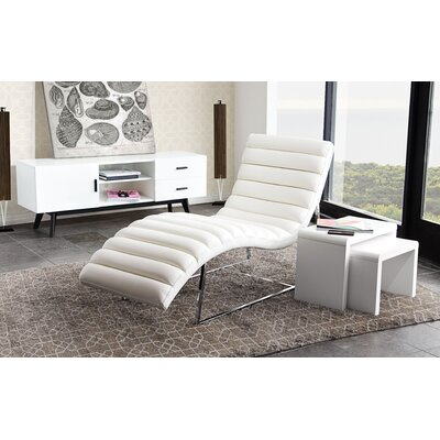 Olney Chaise Lounge Upholstery: White