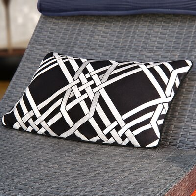 Barker Down Lumbar Pillow Color: Black/Gray