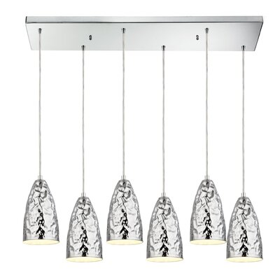 Aaden 6-Light Metal Kitchen Island Pendant