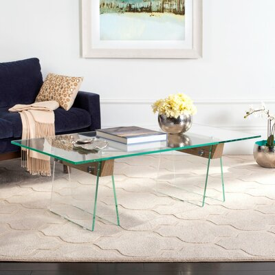 Nystrom Coffee Table with Glass Top