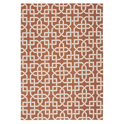 Spadefish Rust Indoor/Outdoor Area Rug Rug Size: Rectangle 53 x 75