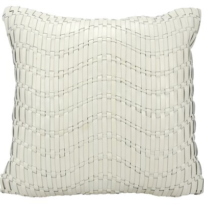Tiefort Leather Throw Pillow Color: Ivory