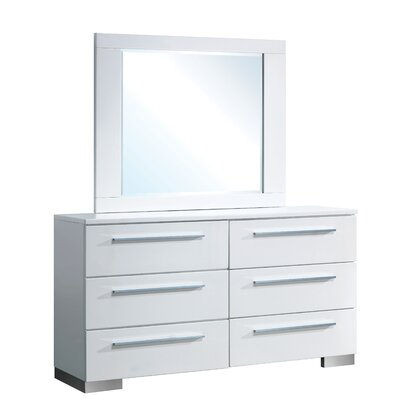 Derecho 6 Drawer Dresser with Mirror