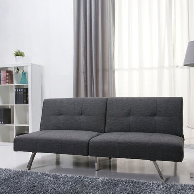 Reily Leatherette Convertible Sofa Upholstery: Gray