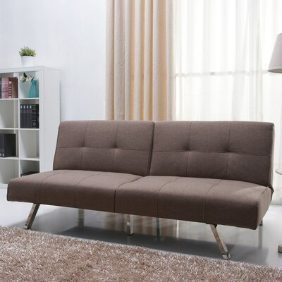 Reily Leatherette Convertible Sofa Upholstery: Mocha