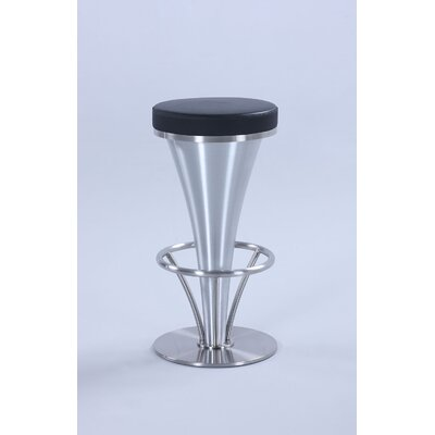 Garth Counter Height Bar Stool Upholstery: Black