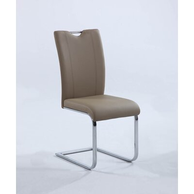 Keenley Parsons Chair (Set of 2) Upholstery: Taupe