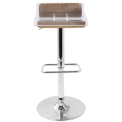 Suhel Adjustable Height Swivel Bar Stool