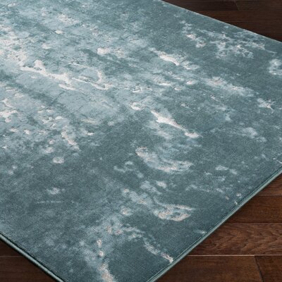 Ariel Blue Area Rug Rug Size: Rectangle 53 x 76
