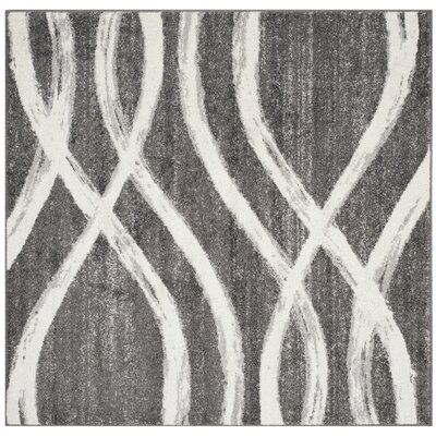 Graciano Ivory/Gray Area Rug Rug Size: Square 6