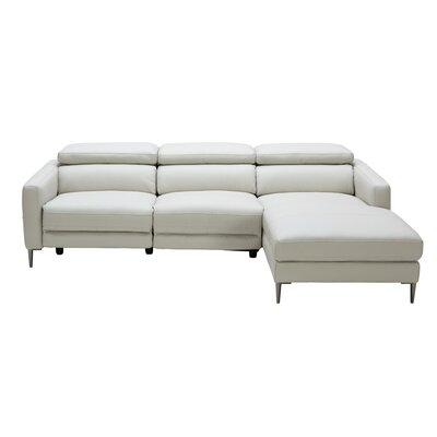 Coalpit Heath L-Shaped Steel Frame Leather Sectional