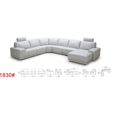 Cana U-Shaped Leather Sectional