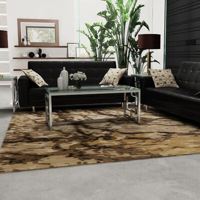 Ayanna Olive/Light Gray Area Rug Rug Size: Rectangle 4 x 6