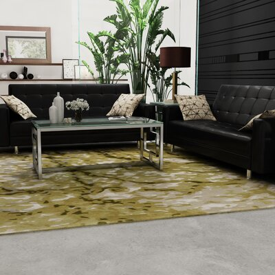 Ayanna Green/Beige Area Rug Rug Size: Rectangle 8 x 10