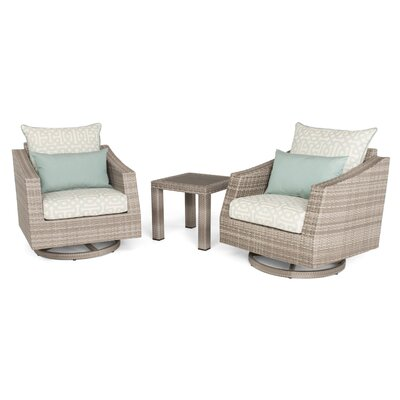 Greenfield Deluxe 3 Piece Deep Seating Group Fabric: Spa Blue