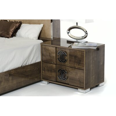 Fruge 2 Drawer MDF Nightstand