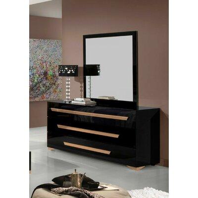 Camron 3 Drawer Dresser with Mirror