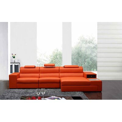 Colman Mini Sectional Upholstery: Orange