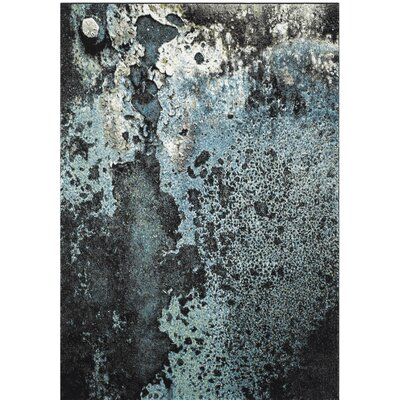 Brodick Blue/Gray Area Rug Rug Size: Rectangle 53 x 76