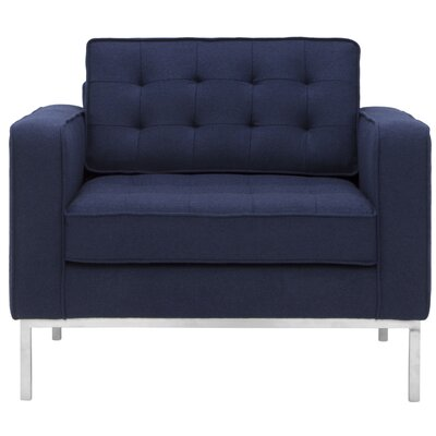 Boricco Arm Chair Color: Navy