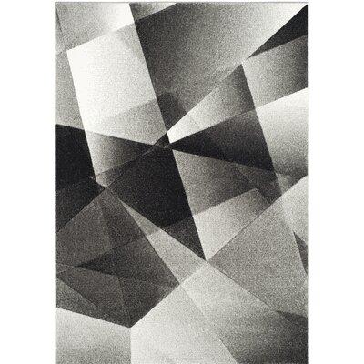 Craigwood Gray/Black Area Rug Rug Size: Rectangle 4 x 6