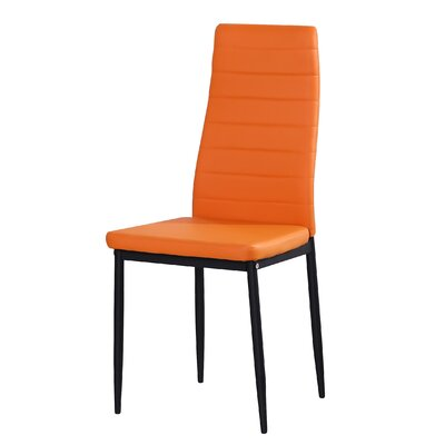 Markus Side Chair (Set of 4) Upholstery: Orange