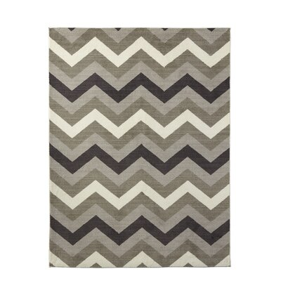 Matangi Chevron Neutral Area Rug Rug Size: 8 x 10