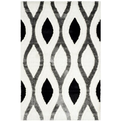 Callensburg Ivory/Gray Area Rug Rug Size: 6 x 9