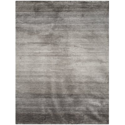 Madrigal Hand-Woven Gray Area Rug Rug Size: Rectangle 4 x 6