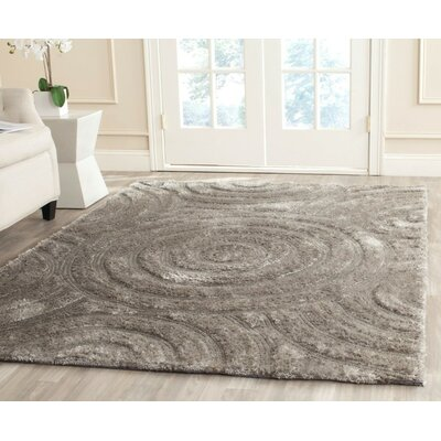 Minnich Hand-Tufted Silver Area Rug Rug Size: Rectangle 4 x 6