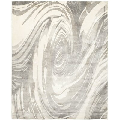 Armstrong Hand-Knotted Ivory/Gray Area Rug Rug Size: Rectangle 6 x 9