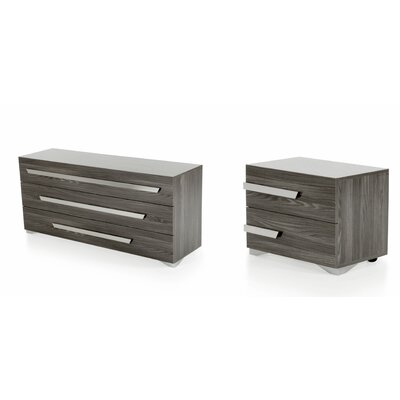 Kingston Bridge 3 Drawer Dresser with 2 Nightstands