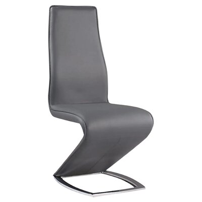 Chellsey Contemporary Side Chair (Set of 2) Side Chair Upholstery: Grey