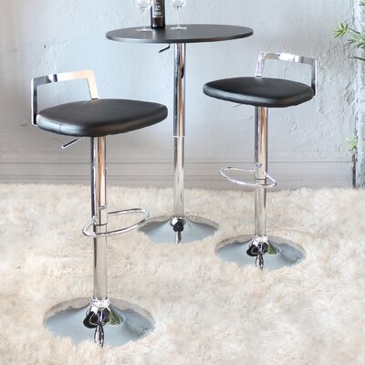 Nathanael Adjustable Height Swivel Bar Stool