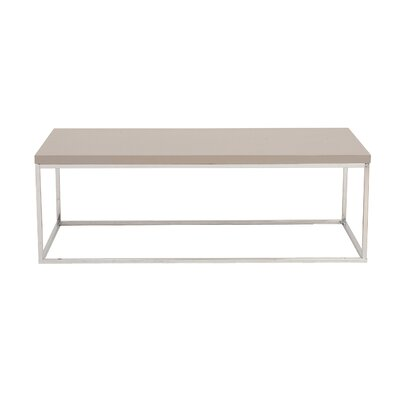 Mccoy Coffee Table Top Finish: Taupe Lacquer