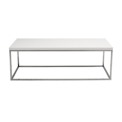 Mccoy Coffee Table Top Color: White Lacquer