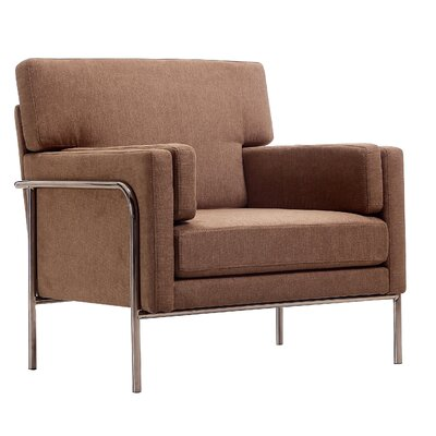 Demetra Armchair Color: Brown