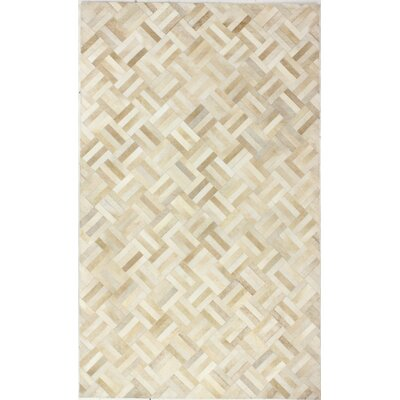 Cascadera Flat Woven Ivory/Camel Area Rug Rug Size: 9 x 12