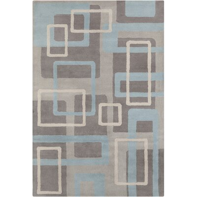 Saxon Hand Tufted Wool Gray/Blue Area Rug