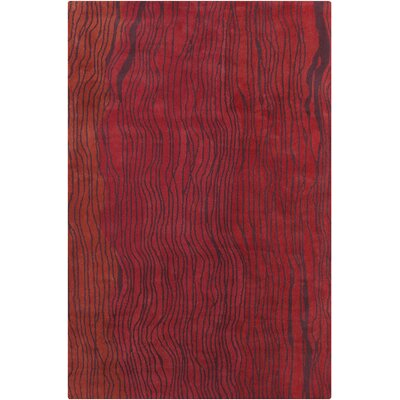 Saxon Hand Tufted Wool Red Area Rug Rug Size: 8 x 10
