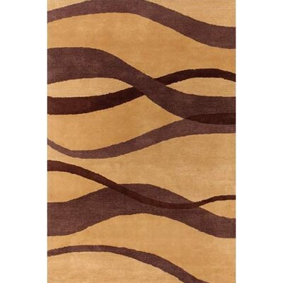 Aldan Brown/Tan Area Rug Rug Size: Runner 26 x 76