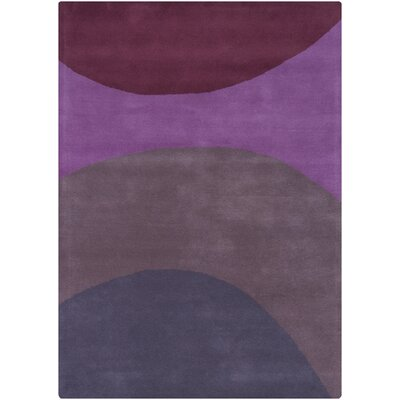 Dundee Purple/Grey Area Rug Rug Size: 5 x 7