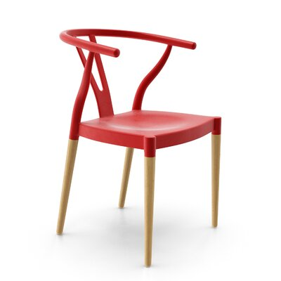 Mustang Side Chair Finish: Red