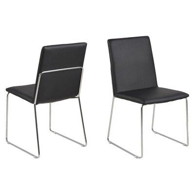 Strasburg Side Chair Upholstery: Black
