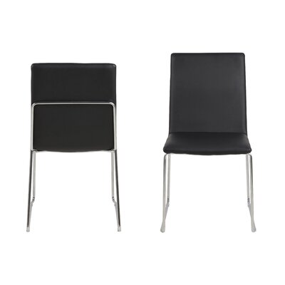Strasburg Side Chair Upholstery: Black
