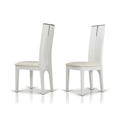Clower Wood Side Chair Finish: White Gloss