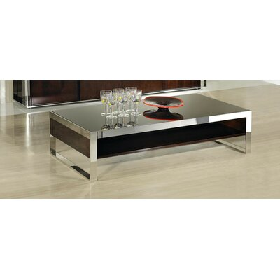 Camron Modern Rectangle Steel Base Coffee Table