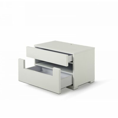 Sommerset Modern 2 Drawer Nightstand