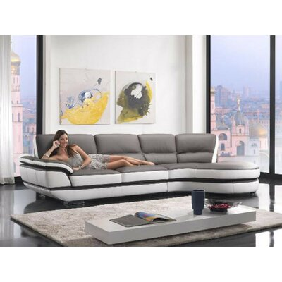Alsatia Sectional Upholstery: Gray/White