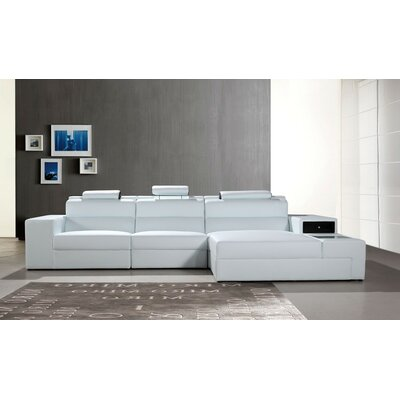 Colman Mini Sectional Upholstery: White